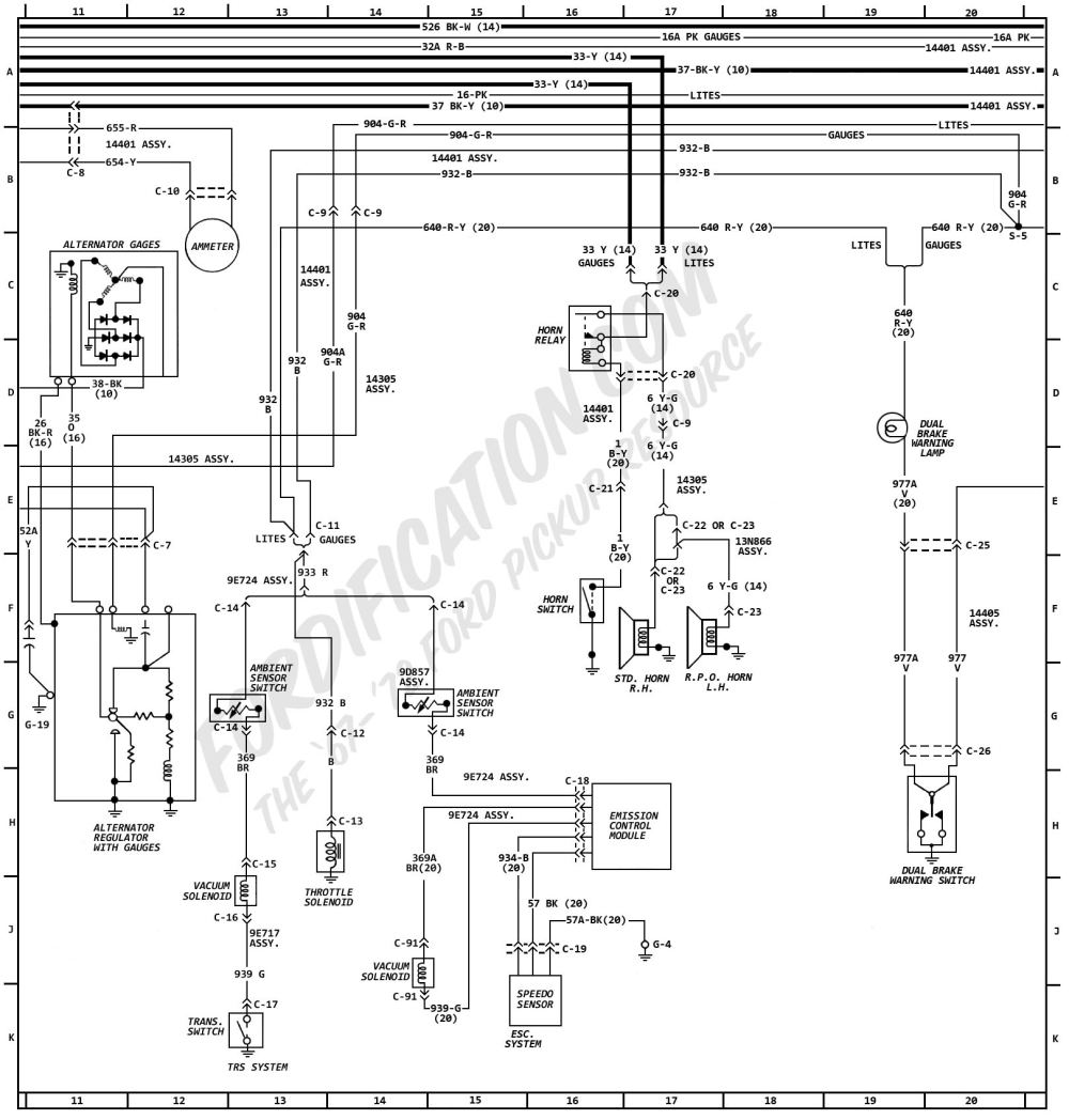medium resolution of 1972 ford truck wiring diagrams fordification com ford turn signal wiring diagram 1972 ford f100 wiring
