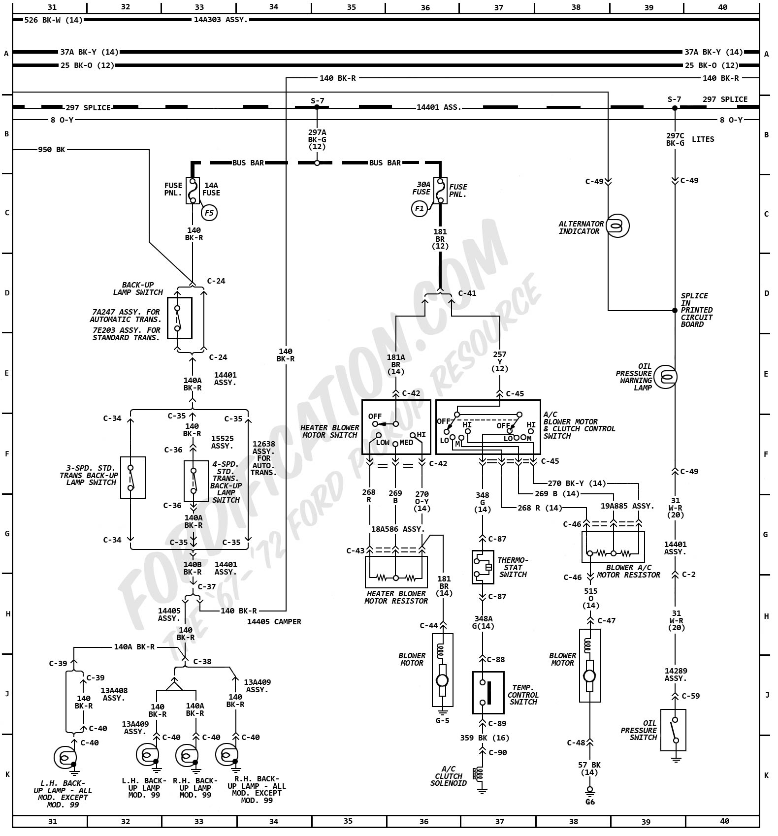 hight resolution of wrg 1635 1970 ford f 250 fuse box diagram 1970 ford torino fuse box diagram