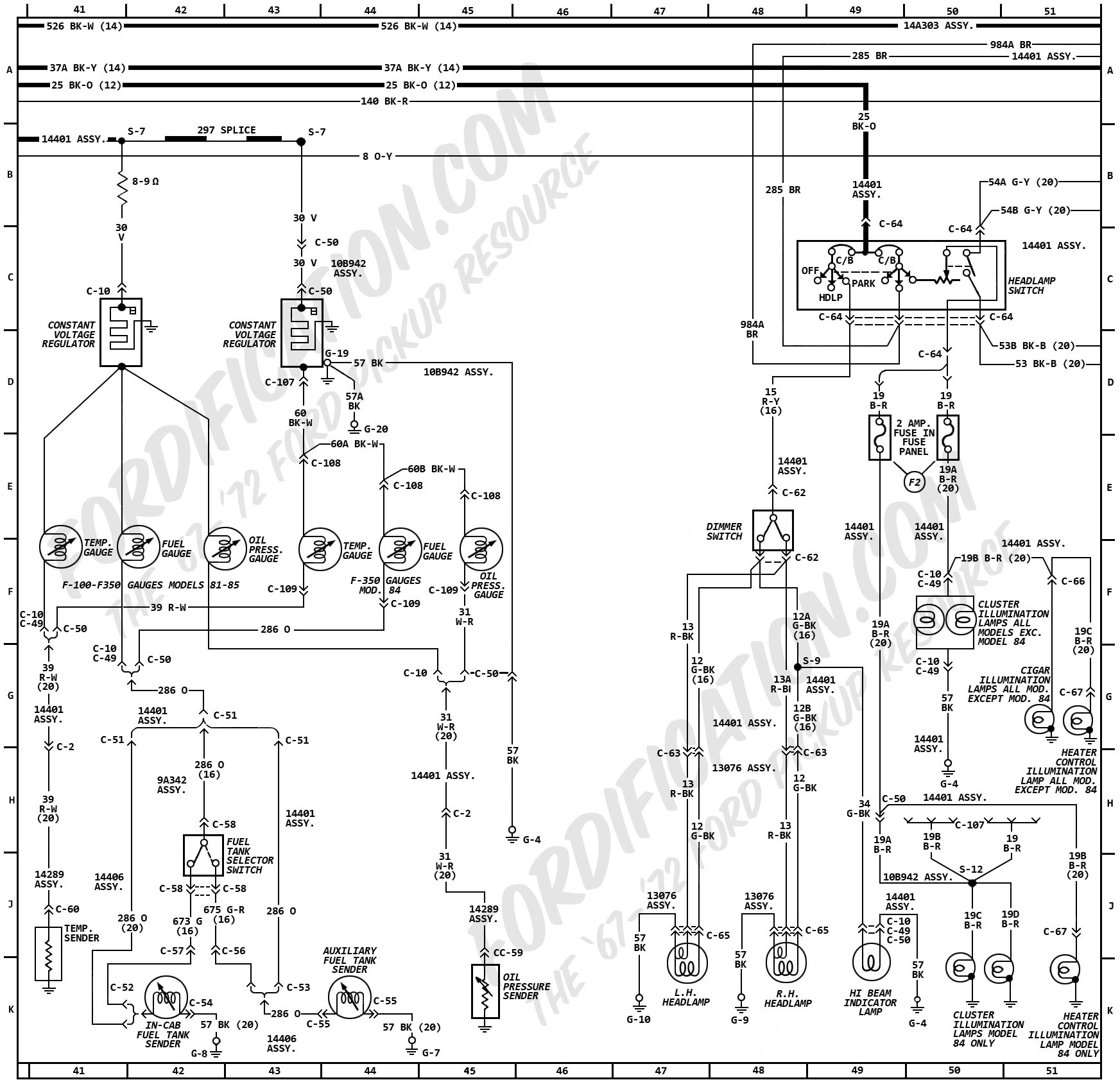 ford wiring harness diagram 2000 mustang gt radio 1972 truck diagrams fordification