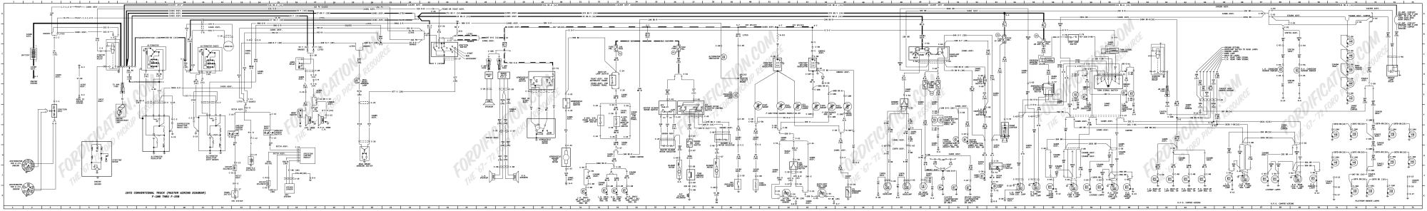 hight resolution of 1972 ford truck wiring diagrams fordification com1972 ford f 100 thru f 350 master wiring diagram
