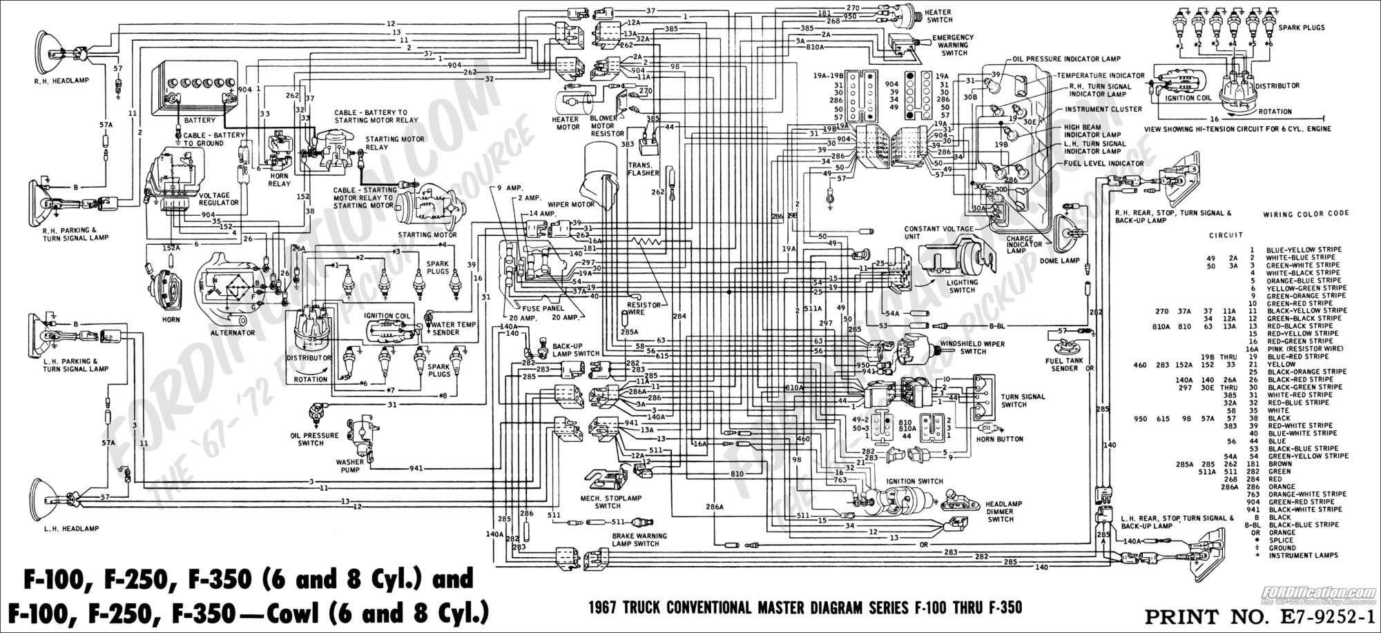 hight resolution of 1968 ford truck wiring diagram wiring diagram name ford truck technical drawings and schematics section h