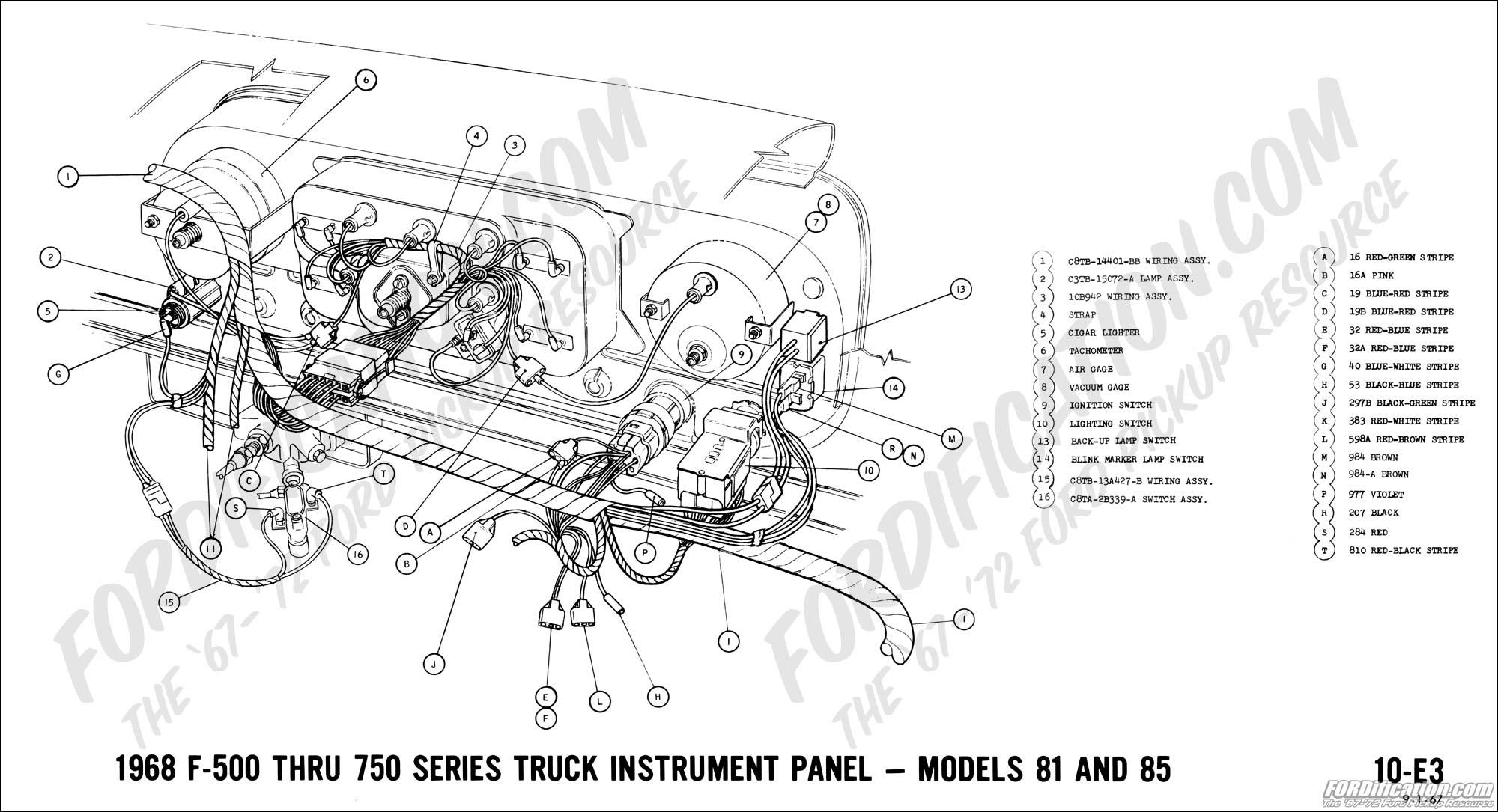 hight resolution of 1968 f 500 thru f 750 instrument panel