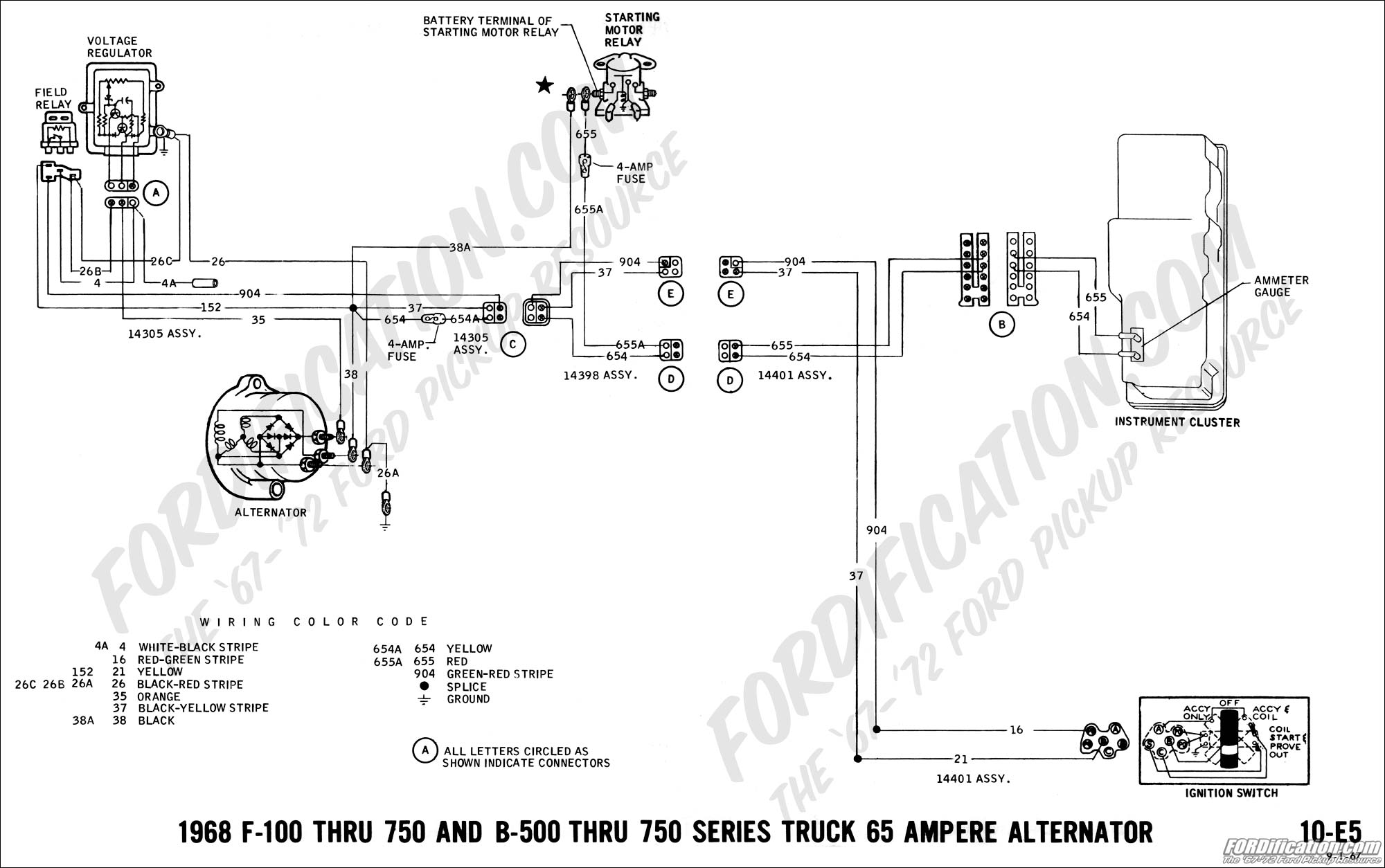 hight resolution of 1968 f 100 thru f 750 and b 500 thru f 750 65 amp alternator