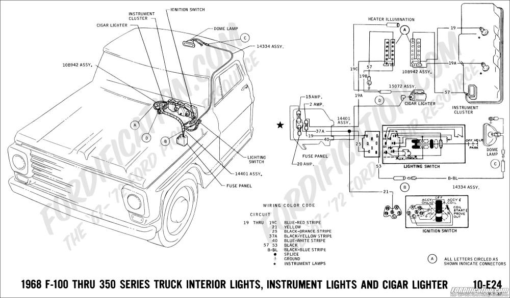 medium resolution of 1968 f 100 thru f 350 interior lights instrument lights and cigar lighter