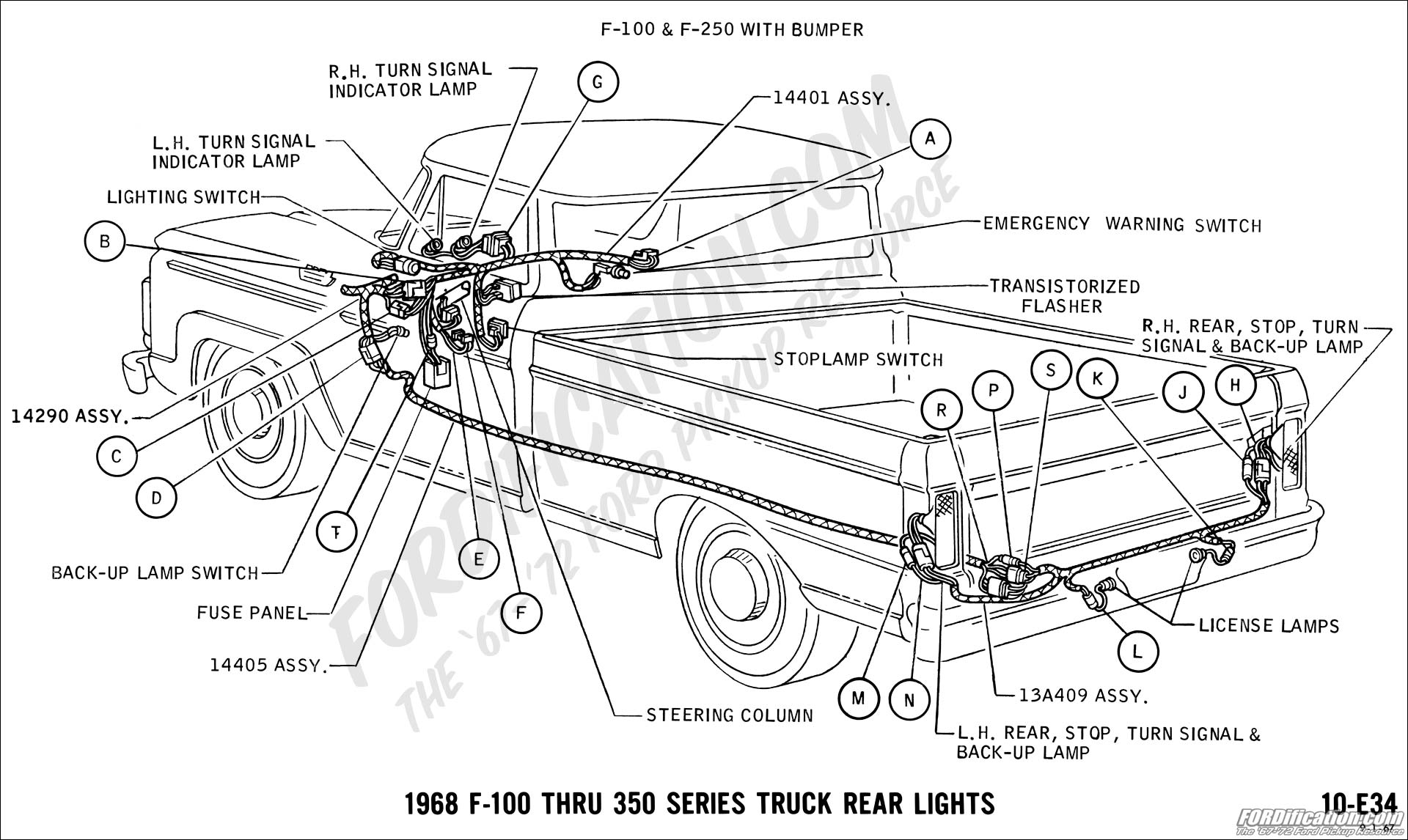 hight resolution of 1968 f 100 thru f 350 rear lights