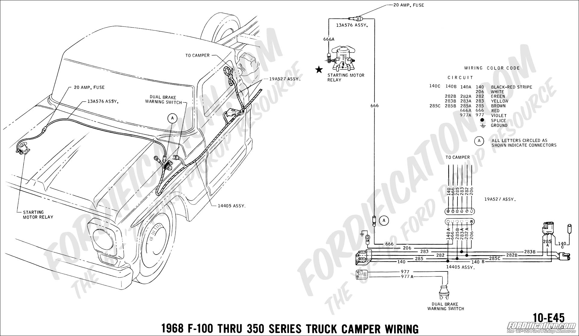 hight resolution of 68 47 ford truck technical drawings and schematics section h wiring truck camper