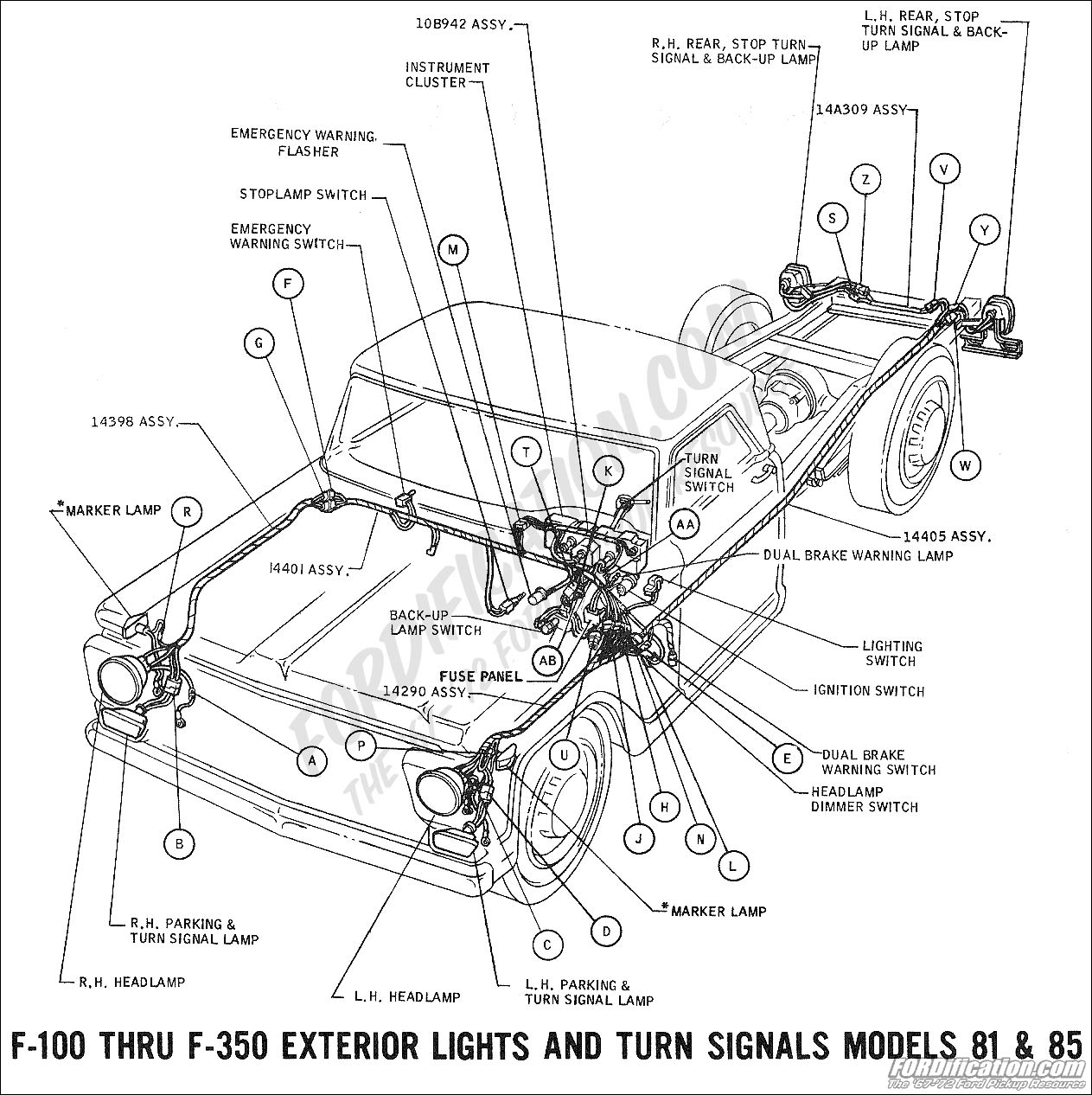 hight resolution of 1969 f 100 thru f 350 exterior lights and turn signals