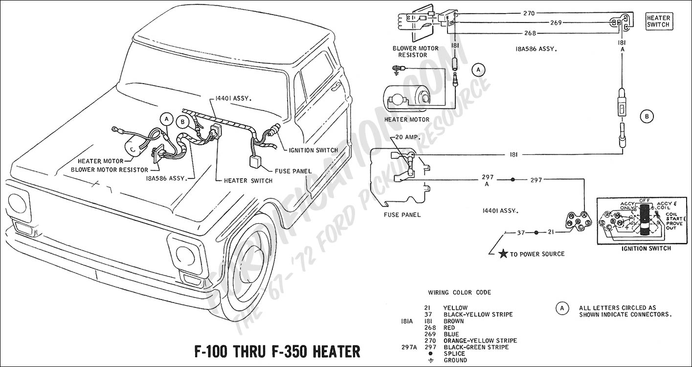 1973 ford f 250 heater wiring