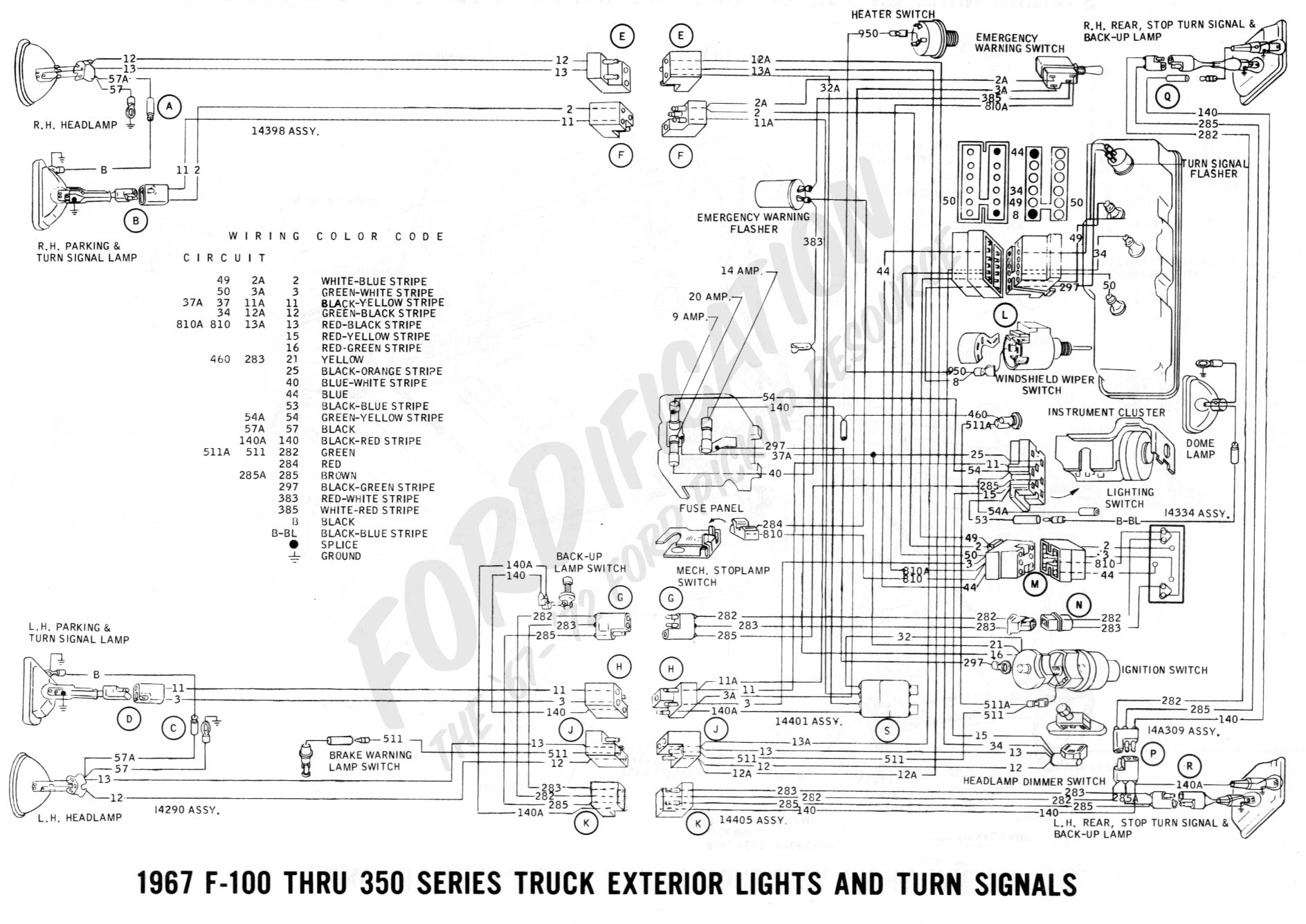 hight resolution of 1967 f 100 thru f 350 exterior lights and turn signals 02