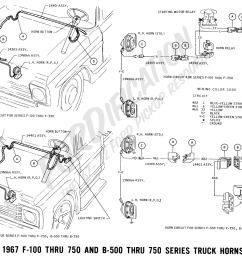 ford truck technical drawings and schematics section h wiring1967 f 100 thru f 750 u0026 [ 1881 x 1309 Pixel ]