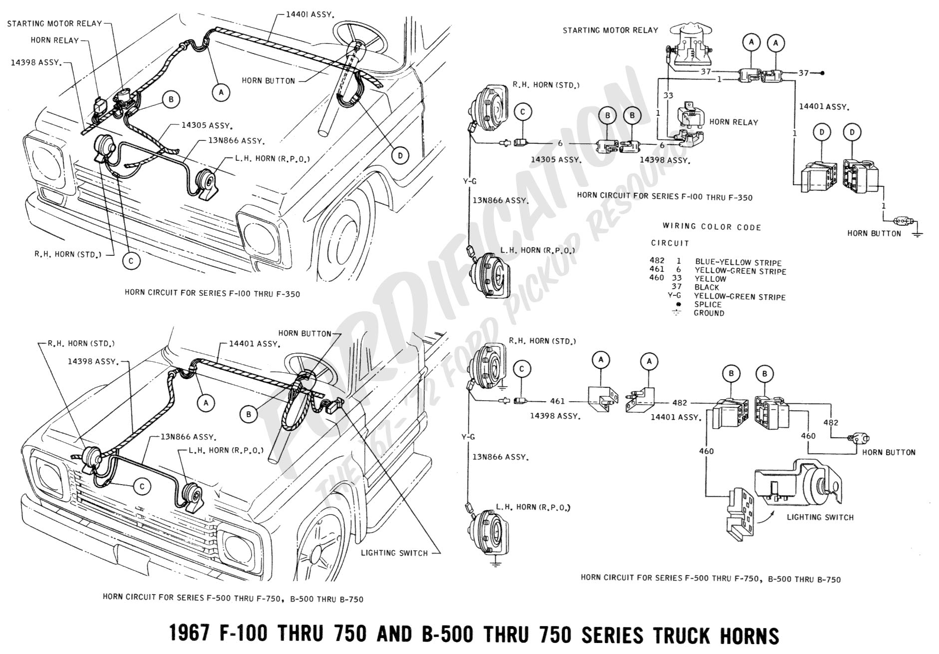 hight resolution of 1967 f 100 thru f 750 b 500 thru 750 horn