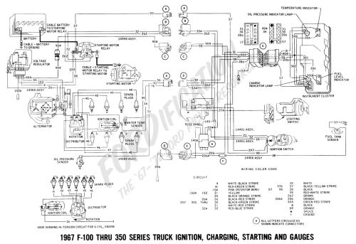 small resolution of 1967 master wiring diagram 1967 f 100 thru f 350 ignition charging starting and gauges