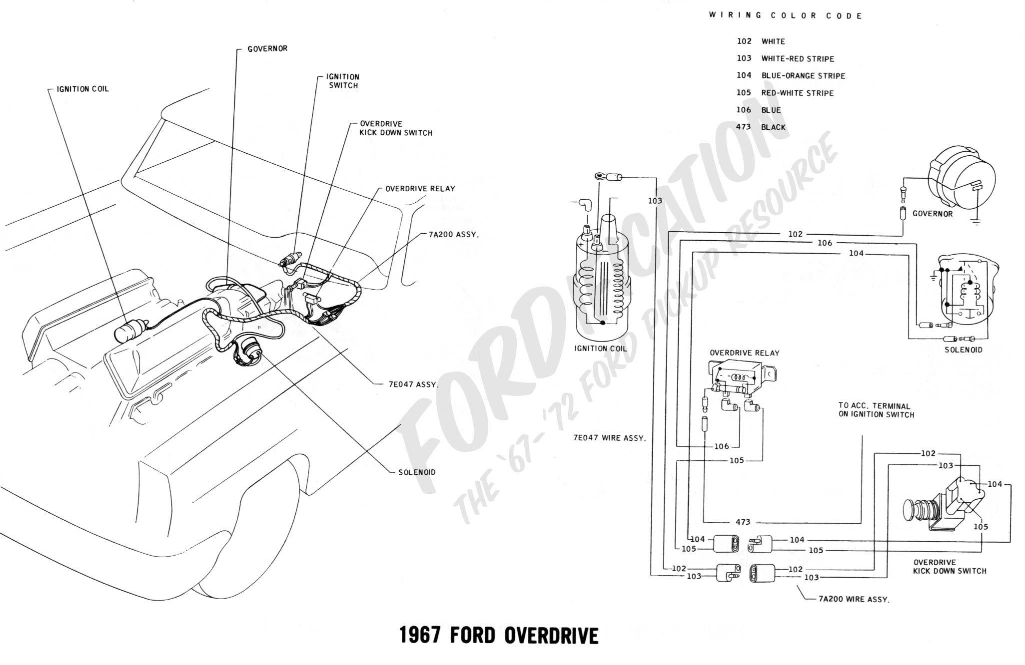 1967 f100 wiring diagram for lights