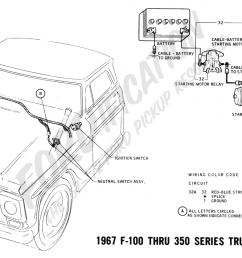 ford truck technical drawings and schematics section h wiring 1967 f 100 thru f 350 truck [ 2177 x 1076 Pixel ]