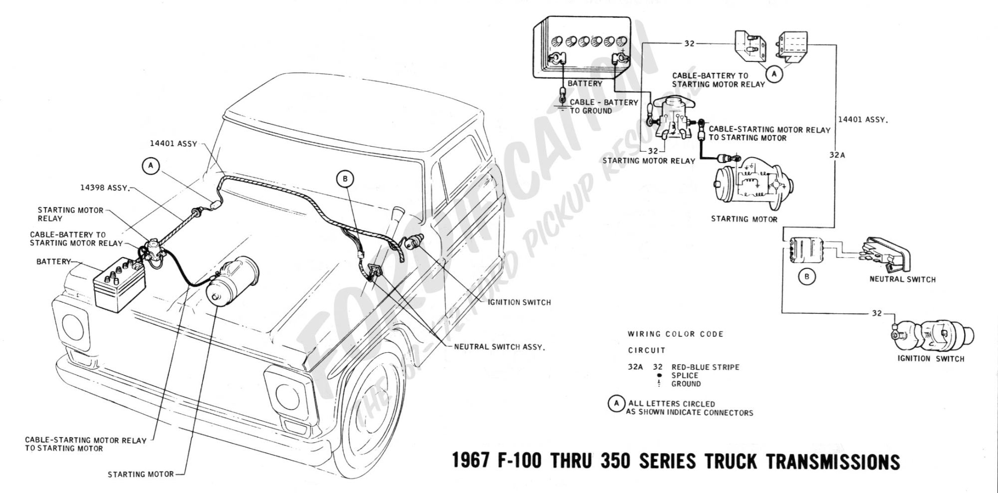 hight resolution of ford truck technical drawings and schematics section h wiring 1967 f 100 thru f 350 truck