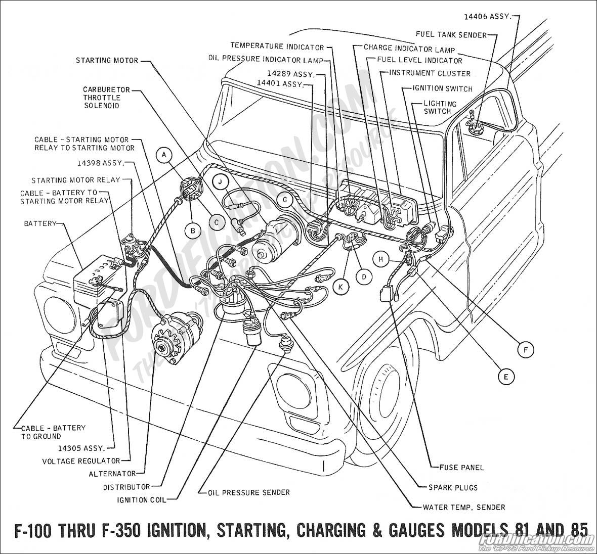 hight resolution of 1969 f 100 thru f 350 ignition charging starting and gauges 01