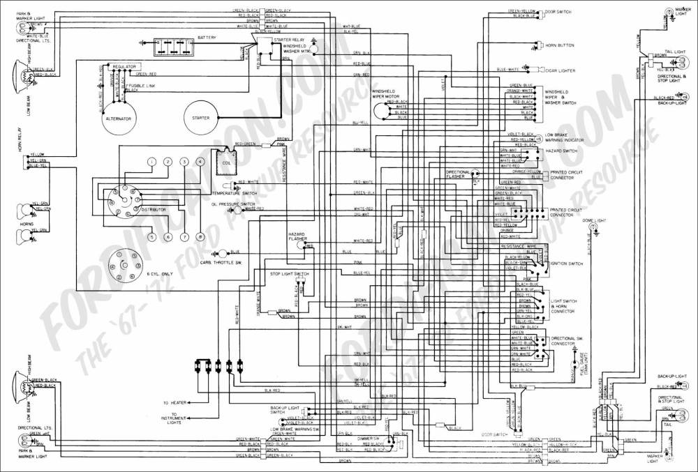 medium resolution of 1972 f series quick reference diagram 1972 f100 f350 master wiring
