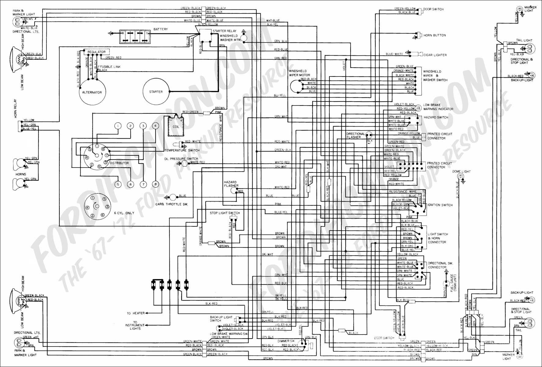 hight resolution of 1972 f series quick reference diagram 1972 f100 f350 master wiring