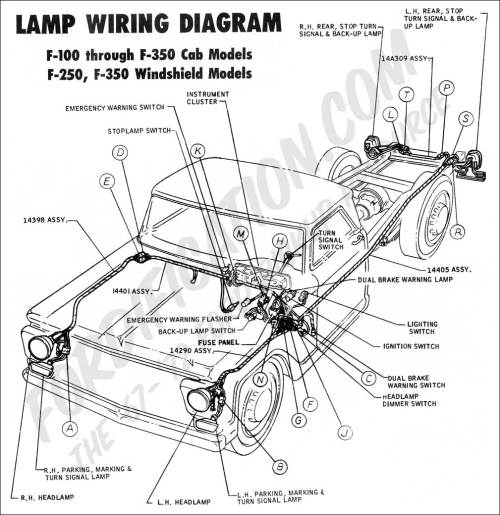 small resolution of 1970 f 100 f250 lamp wiring 02