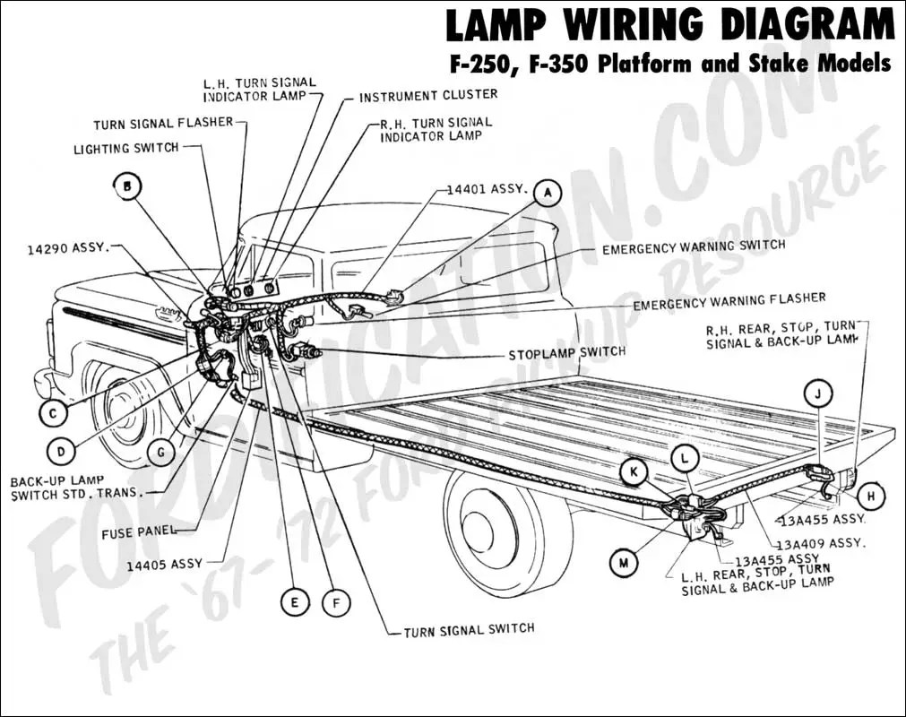 hight resolution of  brake light circuitford light wiring 21 ford truck technical drawings and schematics section h wiring1970 f 250 f 350 platform stake