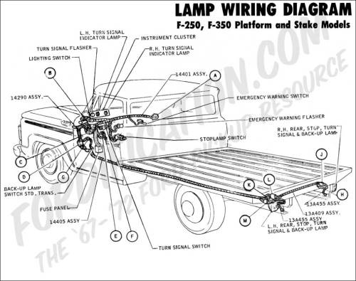 small resolution of  brake light circuitford light wiring 21 ford truck technical drawings and schematics section h wiring1970 f 250 f 350 platform stake