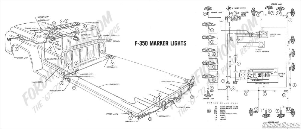 medium resolution of 1969 f 350 marker lights ford truck technical drawings and schematics