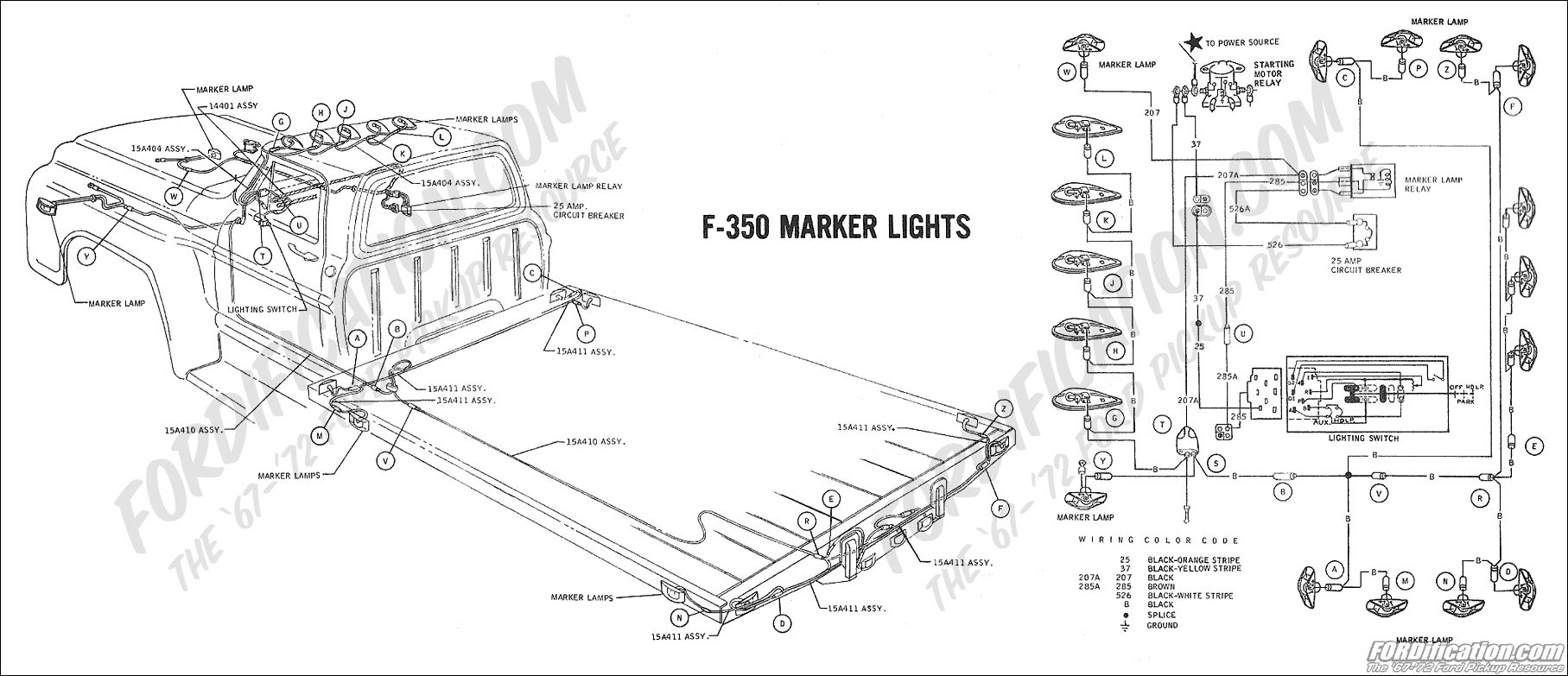 hight resolution of 1969 f 350 marker lights ford truck technical drawings and schematics