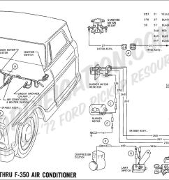 1969 f 100 thru f 350 air conditioner ford truck technical drawings and schematics  [ 1511 x 900 Pixel ]