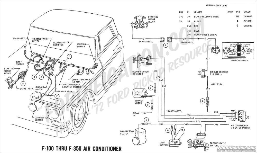 medium resolution of 1969 f 100 thru f 350 air conditioner ford truck technical drawings and schematics