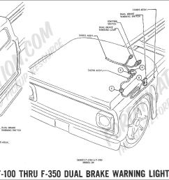 ford tail light wiring diagram 1969 f 100 thru f 350 dual brake warning light [ 2048 x 831 Pixel ]