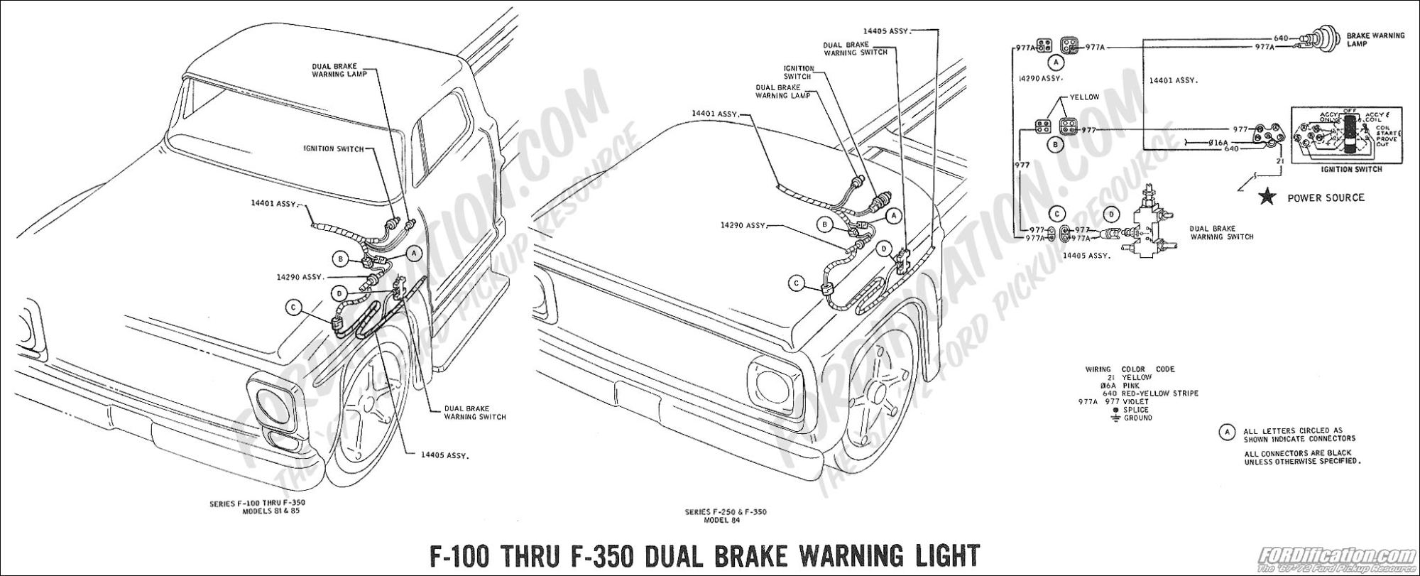 hight resolution of 1969 f 100 thru f 350 dual brake warning light