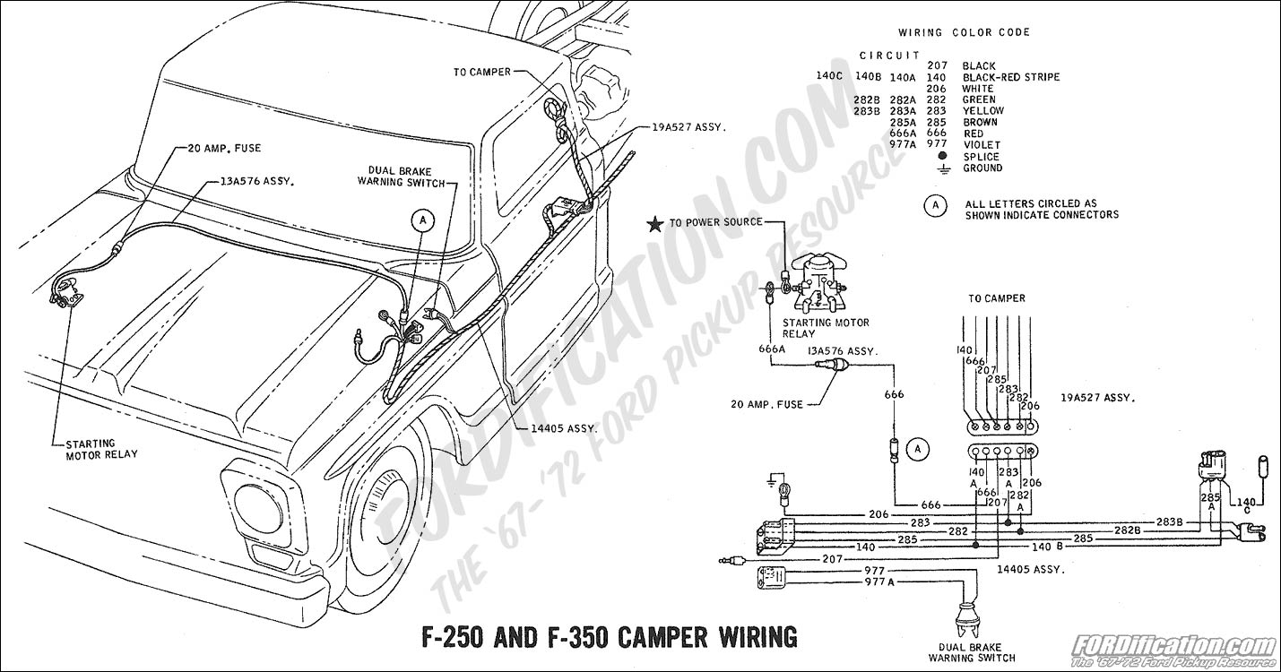 hight resolution of 1969 f 250 f 350 camper wiring ford truck technical drawings and schematics