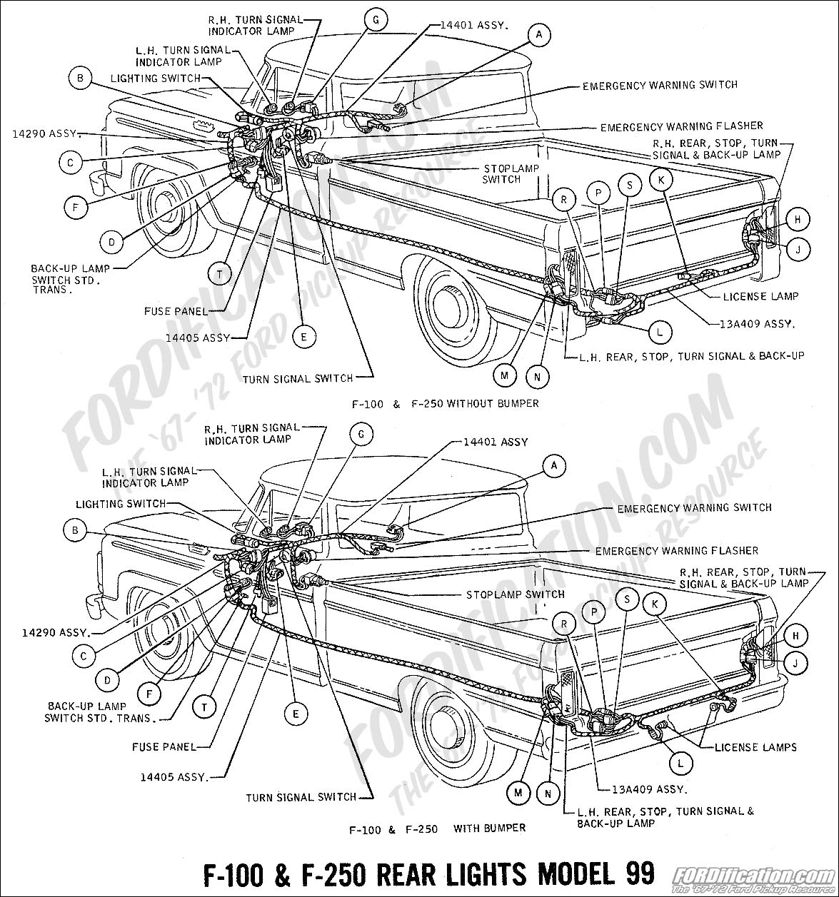 99 f350 headlight wiring diagram bmw rear suspension ford truck technical drawings and schematics section h