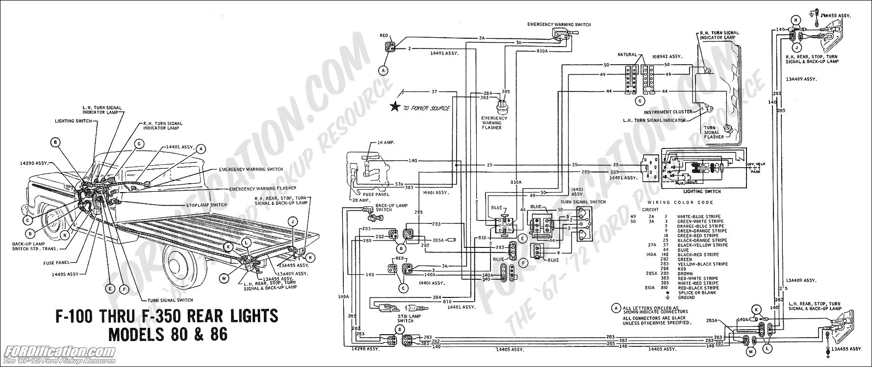 1971 Ford F100 Tail Light Wiring Diagram. Ford. Wiring