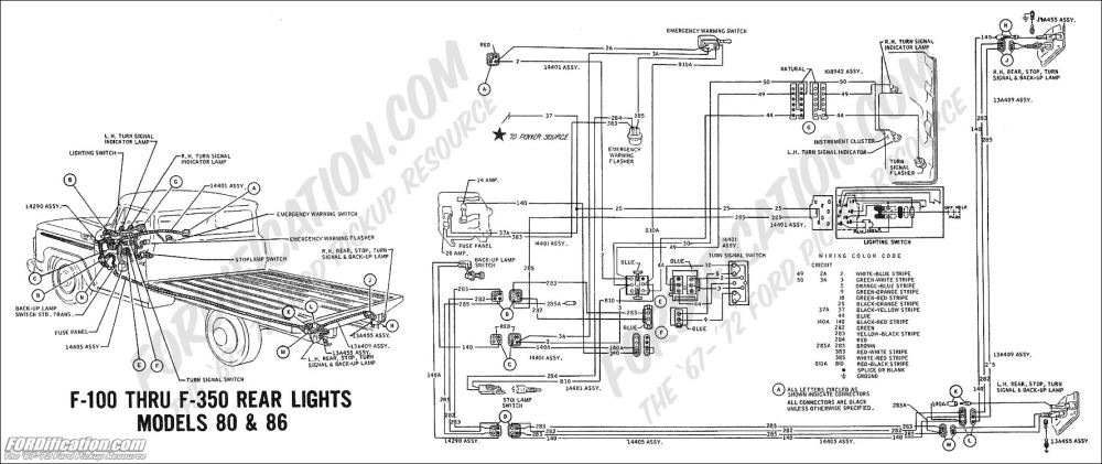 medium resolution of 1969 f 100 thru f 350 rear lights models 80 86 ford truck technical drawings and schematics