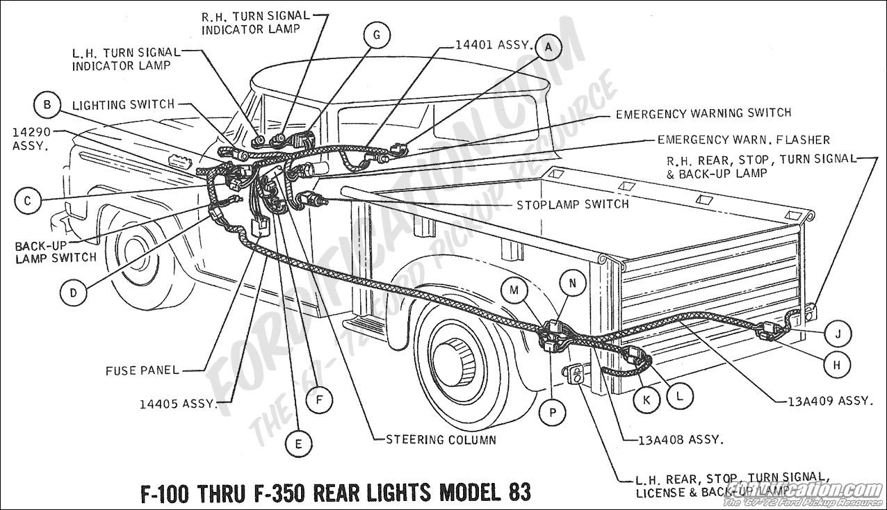 hight resolution of 1969 f 100 f 250 rear lights model 83 01