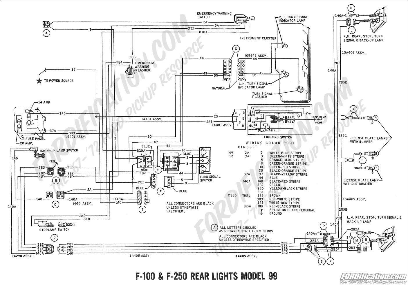 Lamp Wiring Diagram Ford F 250