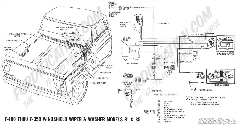 medium resolution of  ford f 350 ac wiring diagram 1969 f 100 thru f 350 windshield washer pump models 81 85