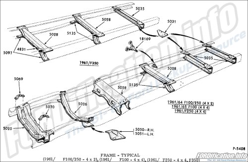 small resolution of frame typical 1961 f100 250 4x2 1961 f100 4x4 1961 f250 4x4 f350