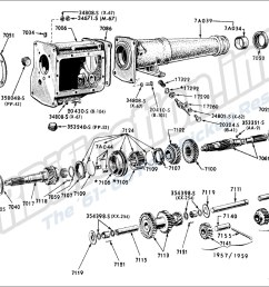 transmission and extension 3 speed ford typical 1957 62 f100 250 4x2 p350  [ 1452 x 960 Pixel ]