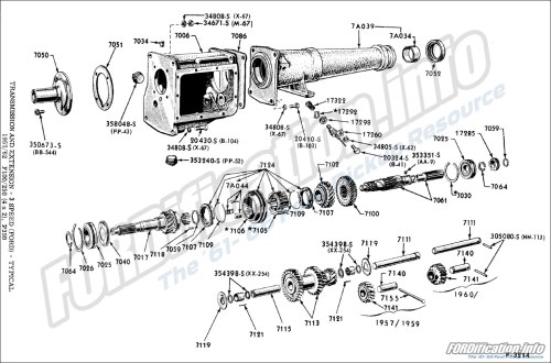 small resolution of transmission and extension 3 speed ford typical 1957 62 f100 250 4x2 p350