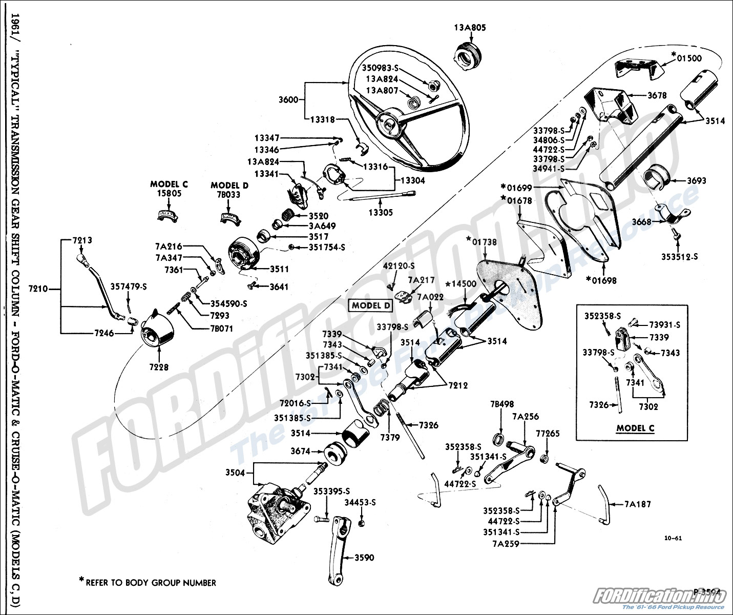 hight resolution of 1961 typical transmission gear shift column ford o matic cruise o matic models c d