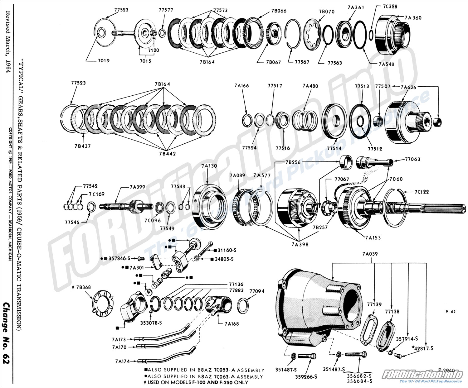 hight resolution of  typical gears shafts related parts 1959 cruise o matic transmission