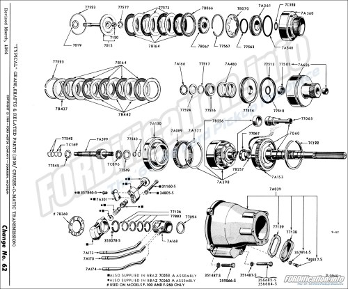 small resolution of  typical gears shafts related parts 1959 cruise o matic transmission
