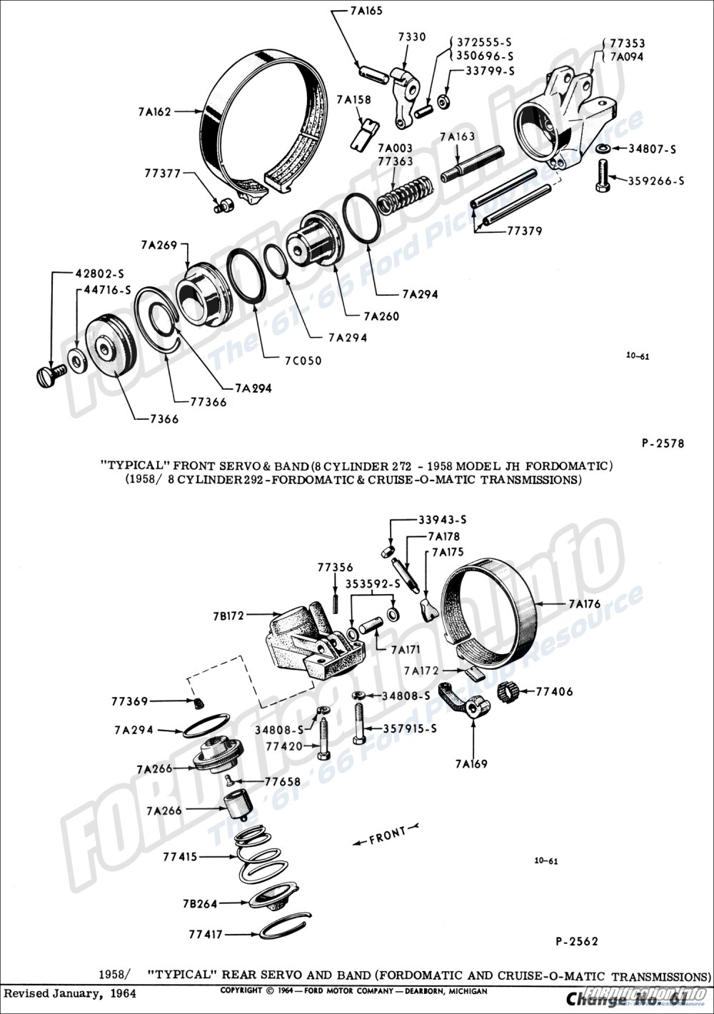 medium resolution of  1958 8 cylinder 292 fordomatic cruise o matic transmissions