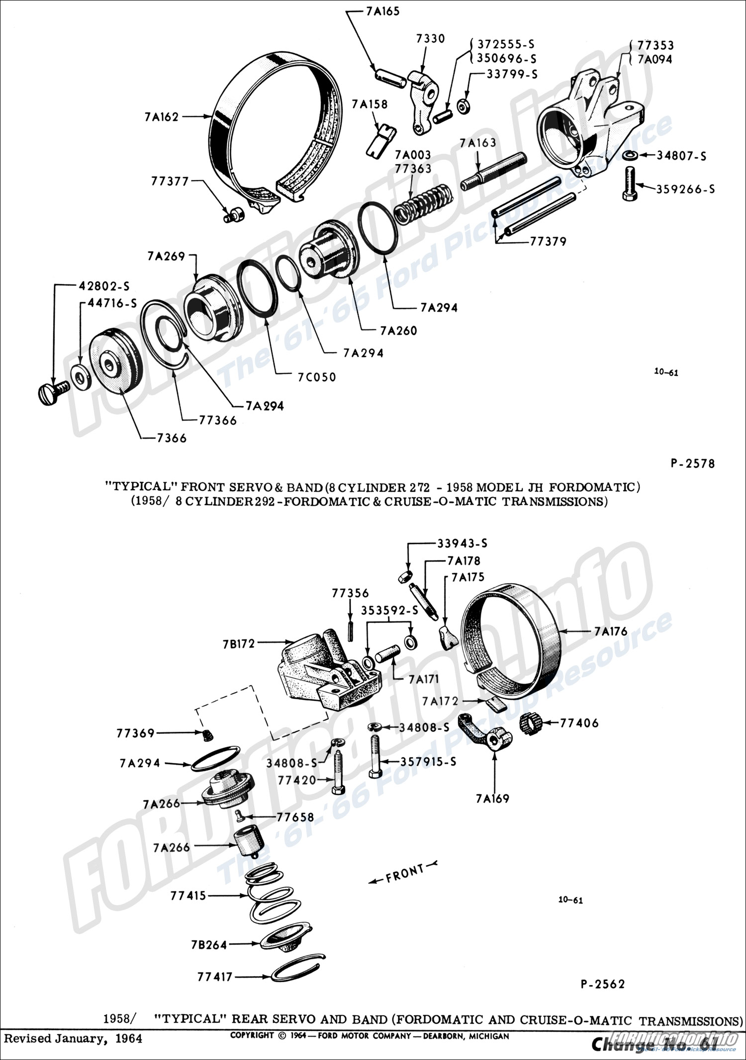 hight resolution of  1958 8 cylinder 292 fordomatic cruise o matic transmissions