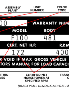 Scroll to the bottom of this page for more info be sure check ensure    stamped on warranty tag matches numbers frame also decode your  ford truck vin fordificationfo rh