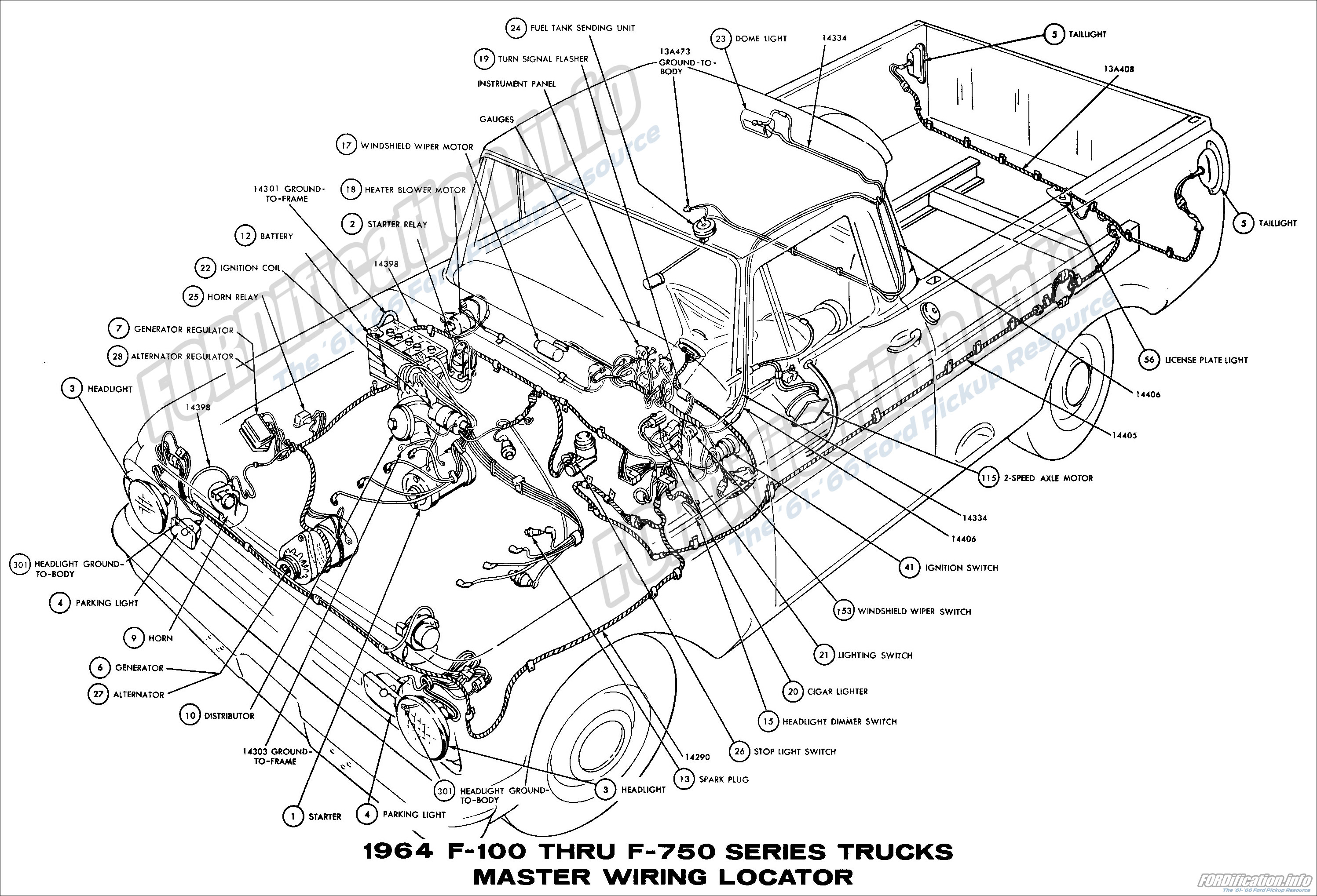 1964 f100 brake light diagram