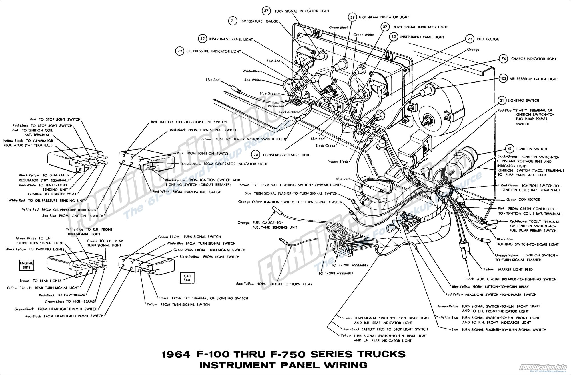 hight resolution of 1964 ford truck wiring diagrams fordification info the u002761 u0027661964 f100 thru f750 series