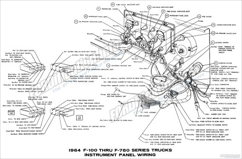 small resolution of 1964 ford truck wiring diagrams fordification info the u002761 u0027661964 f100 thru f750 series